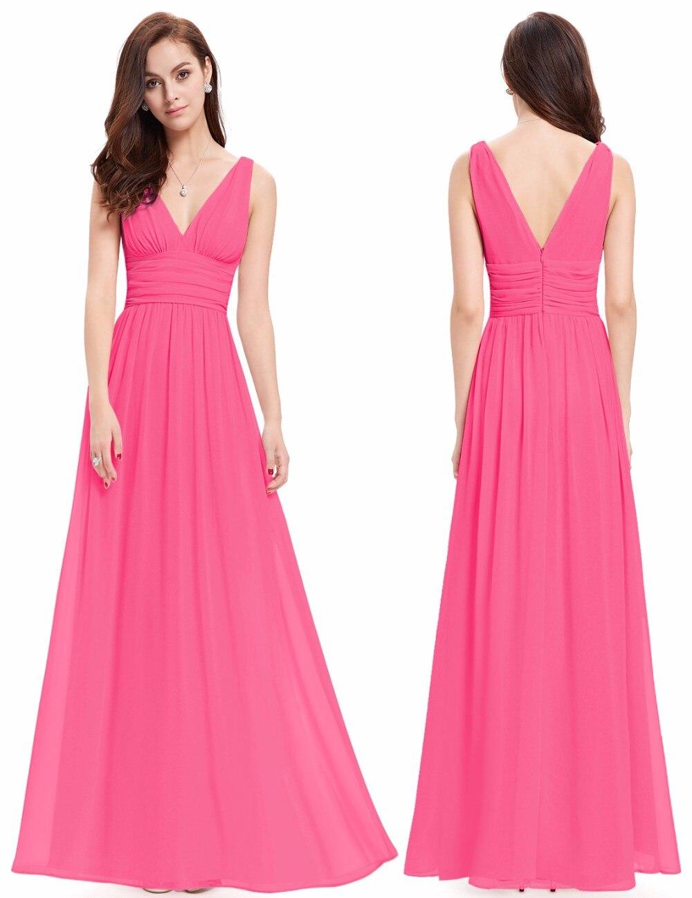 Bridesmaid Dresses Ever Pretty EP09016 Double V Burgundy Elegant ...