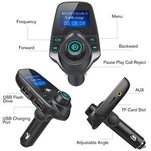 Image 5 - Автомобильный Bluetooth беспроводной Mp3 плеер Handsfree автомобильный комплект fm передатчик 5V 2.1A USB зарядное устройство ЖК дисплей Автомобильный FM модулятор