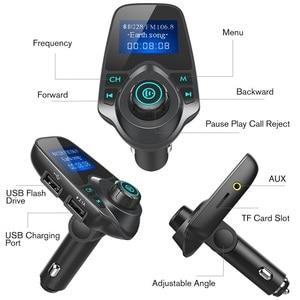 Image 5 - Car Bluetooth Wireless Mp3 Player Handsfree Car Kit FM Transmitter 5V 2.1A USB Charger LCD Display Car FM Modulator
