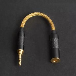 Image 3 - 고품질 헤드폰 전송 와이어 6 코어 이어폰 어댑터 4.4mm 여성 3.5mm 남성 소니 dmpz1 zx300a A 35 pha2a 아이폰에 대 한