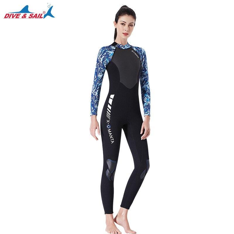 Plongée & voile 2019 1.5 MM néoprène combinaison femme hommes chaud une pièce combinaison humide pour plongée sous-marine surf combinaison humide - 3