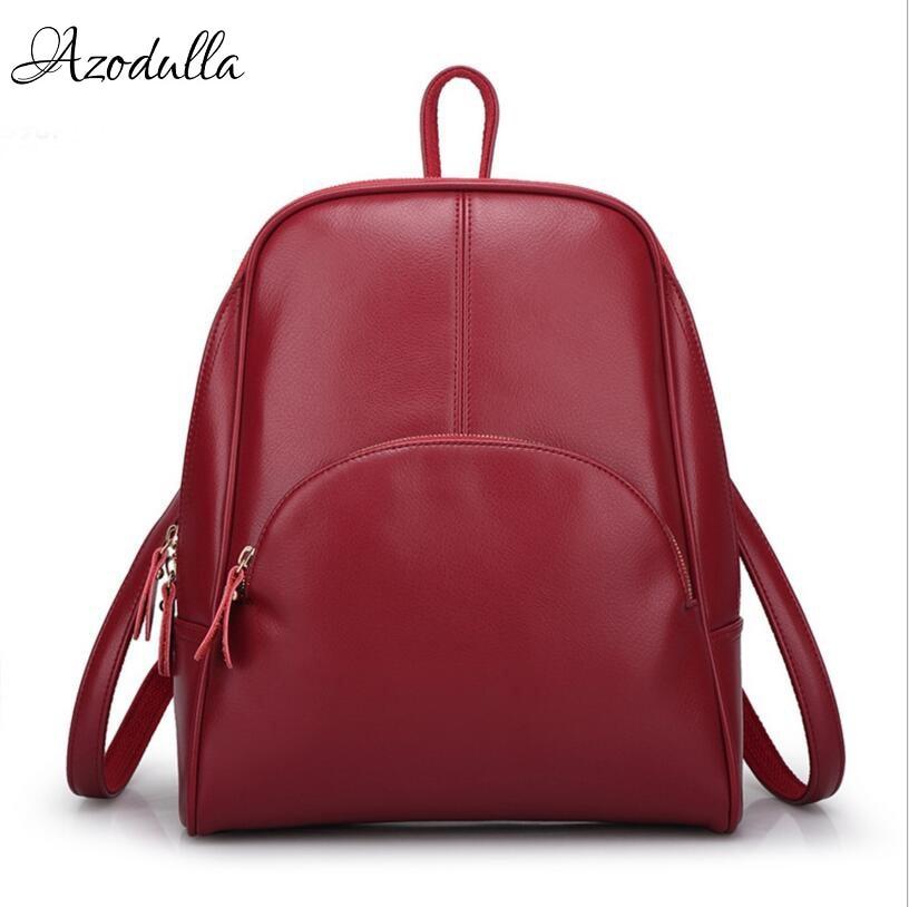 DB138 Hot! Leather Womens Backpack Schoolbag Female Backpacks Women Preppy Style High Quality Rucksack Sweet Ladies Knapsack