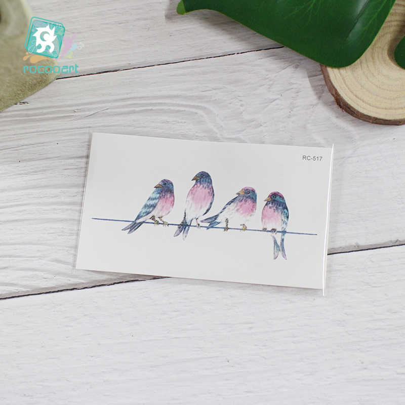 22 Different New 2018 Color Black Body Bird Swallow Tattoo Waterfproof Fake Hummingbird Temporary Tattoo Sticker For Women