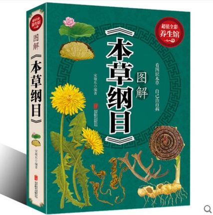Compendium Of Materia Medica Color Graphic Solutions Book About Ben Cao Gang Mu