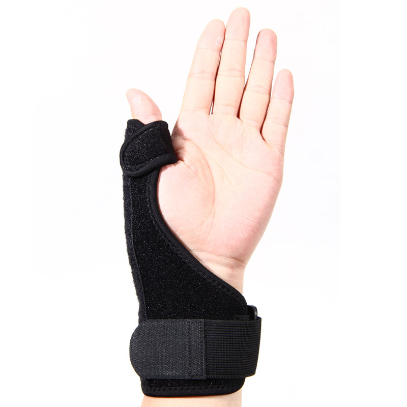 New Sports Safety Training hand Support Brace Guard Wrist Support Splint Sprain Thumb One Pair Black Hot Sale