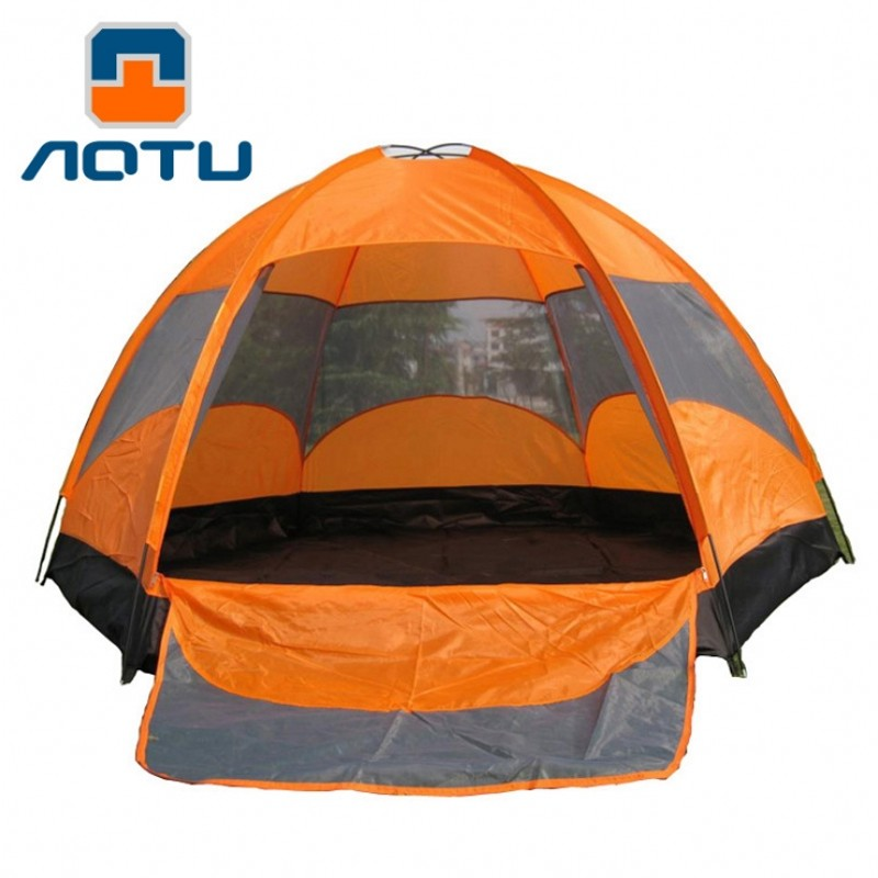 AOTU Large Outdoor 5-8 Man Waterproof Camping Tents Camping Tent Upgraded Ultralight Tent with Beach Picnic Party Camping Tents octagonal outdoor camping tent large space family tent 5 8 persons waterproof awning shelter beach party tent double door tents