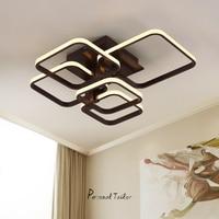 Acrylic Thick Modern White Black Led Ceiling Chandelier Lights For Living Room Bedroom Dining Room Chandelier