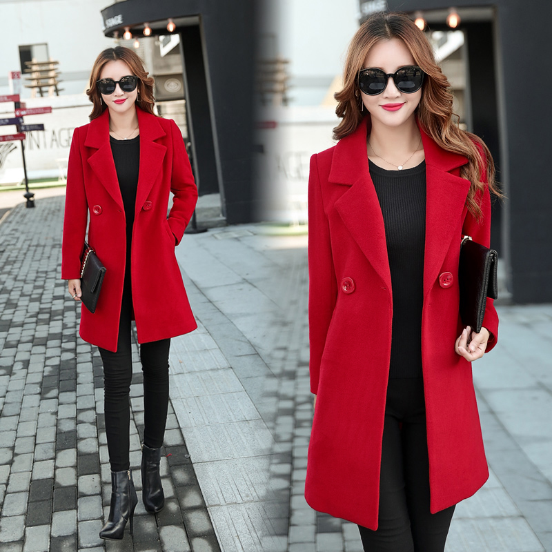 YICIYA Plus Size 3xl 4xl Large Big Coats Winter Jacket Women Overcoat Wool Coat Suits Long Black Slim Blend Clothes Outerwear