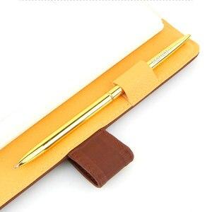 Image 4 - LZN قلم حبر جاف معدني القلم خمر الذهب الفضة الكرة نقطة معدنية القلم لرجال الأعمال الكتابة الهدايا مكتب اللوازم المدرسية شحن مجاني