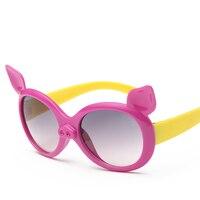Laura Fairy Cute Style Cartoon Pig Image Polarized Sunglasses Kids UV400 Protection Sun Glasses Oculos De