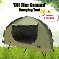 Outdoor 1 Person Tent Off Ground Tent Above Ground Waterproof Outdoor Folding Camping Bed Tent Large Space