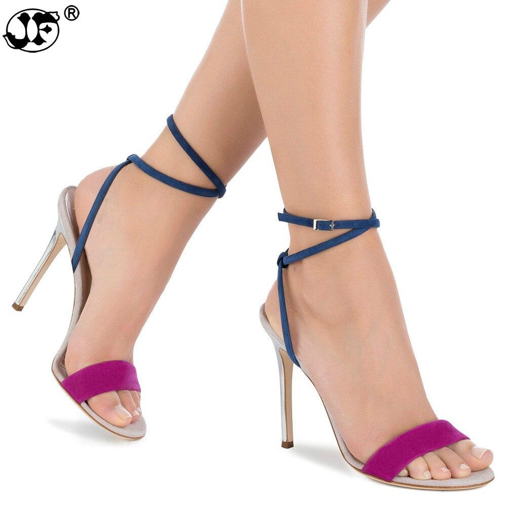 fa997db93d1839 forme Dîner jaune Mode Bty Bleu Parti Pompes Femme Plate Chaussures  Gladiateur Femmes Hauts Sandalssexy D'été Talons Stripper Sandales wPOn0k