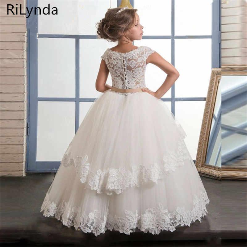 Белые кружевные платья с цветочным узором для девочек на свадьбу; плиссированные платья с оборками для девочек; платья для первого причастия; платья для особых случаев для девочек