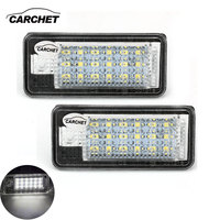 CARCHET Vehicle Car 2X White 18 SMD LED License Plate Lights Lamps Bulbs For Audi A3
