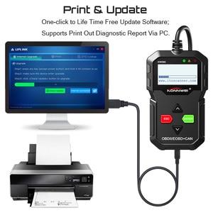 Image 5 - KONNWEI – KW590 meilleur Scanner de Diagnostic de voiture, lecteur de Code OBD2, multilingue, russe, meilleur que AD310