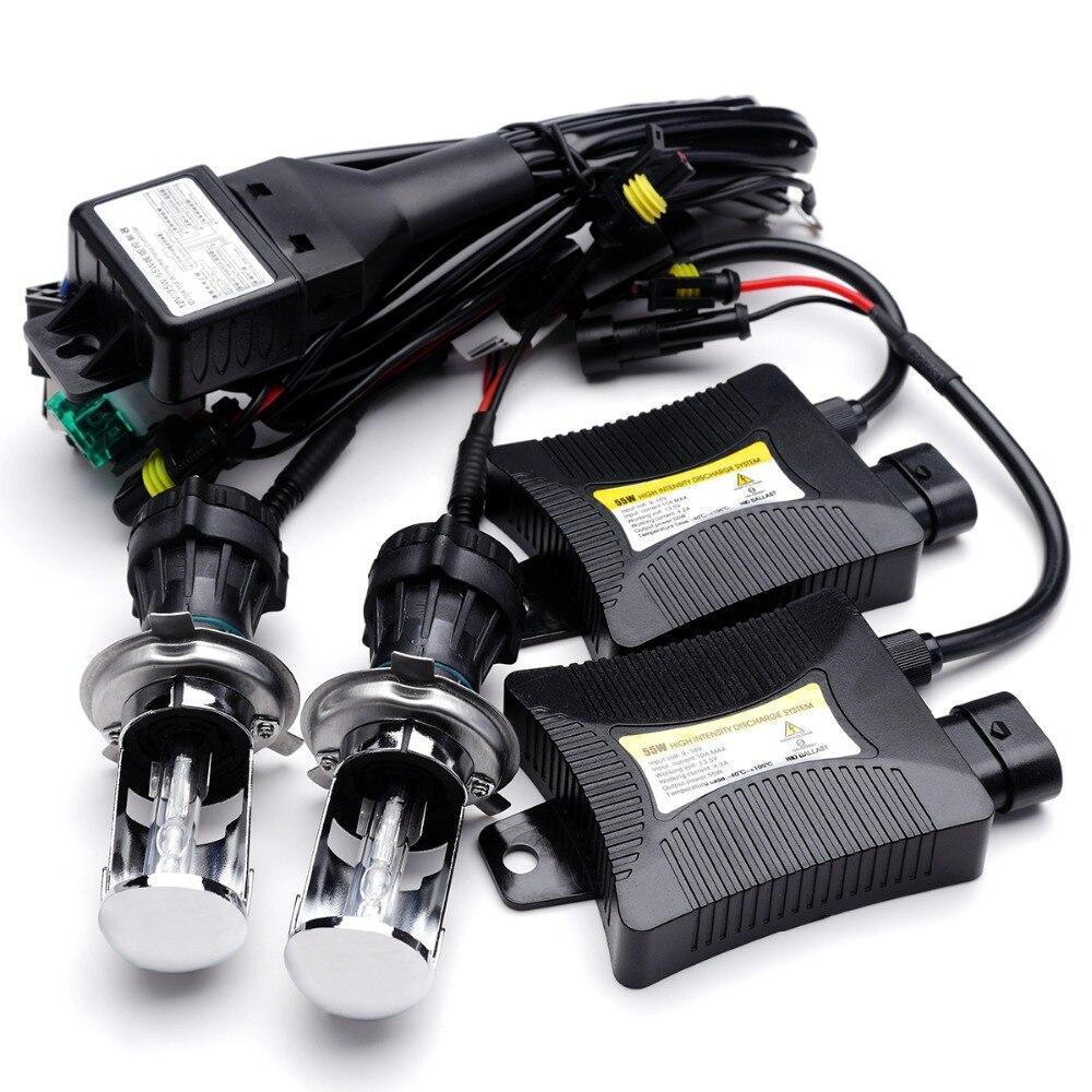 ФОТО 12V H4-3 Bi xenon H4 HID Bixenon H4 hid kit hi lo 12V 55W Car light source 6000K 8000K 4300K 5000K BI-XENON H4 headlight bulbs