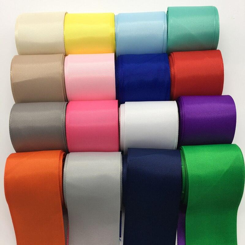 3 ярдов/партия 2 дюймов 50 мм широкий Grosgrain ленты банты на голову Свадебные DIY ремесла палочки цвет