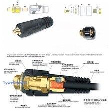 Conector de Cable de montaje rápido DKJ 10 25 35 50 50 70, enchufe de máquina de soldadura, 1 par