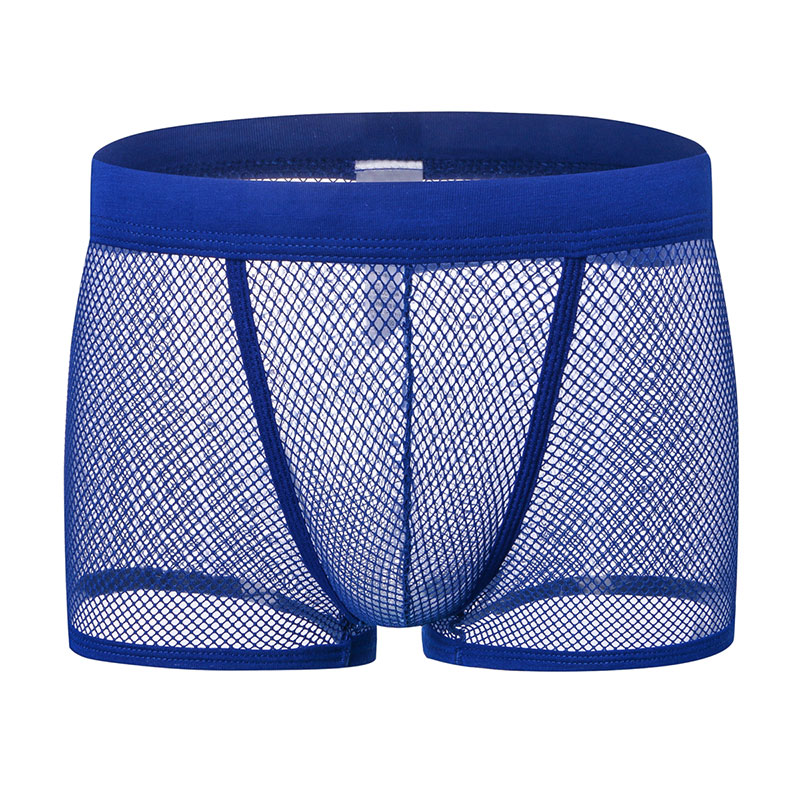 Soutong Men Mesh  Boxers Cuecas Sexy Transparent Men Underwear Boxers Shorts Sexy Breathable Underpants Calzoncillos Gay st05