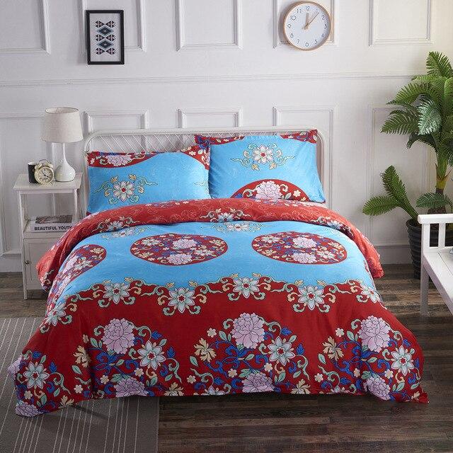 Bohemian style mandala floral bedding 5