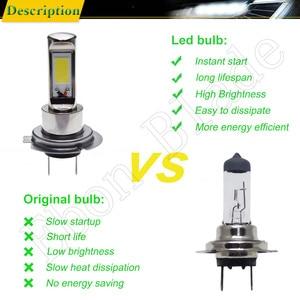 Image 4 - Pair New Canbus H7 LED Fog Light COB 80W White 6000K Auto Truck Daytime Running Lights Fog Lamp Bulb DRL Car Styling 12V 24V 30V