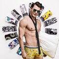2017 ASESO Высокое качество Мужской Underwear Мужчины боксеры Мода трусы Дизайнер Обычный Классический Хлопок Боксеры трусики Марка