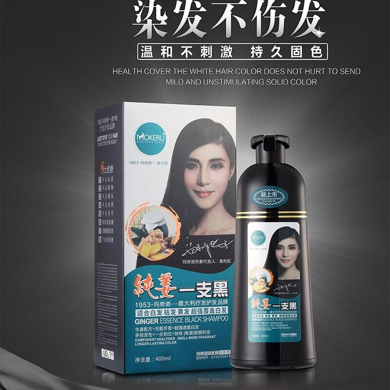Mokeru 1pc Organic Fast Hair Dye Ginger Black Shampoo Dye Hair 5 ...