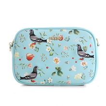 High Quality Dove Small Fashion Floral Embroidery Animal Prints Day Clutches Faux Leather PU Women's Messenger Crossbody Bags
