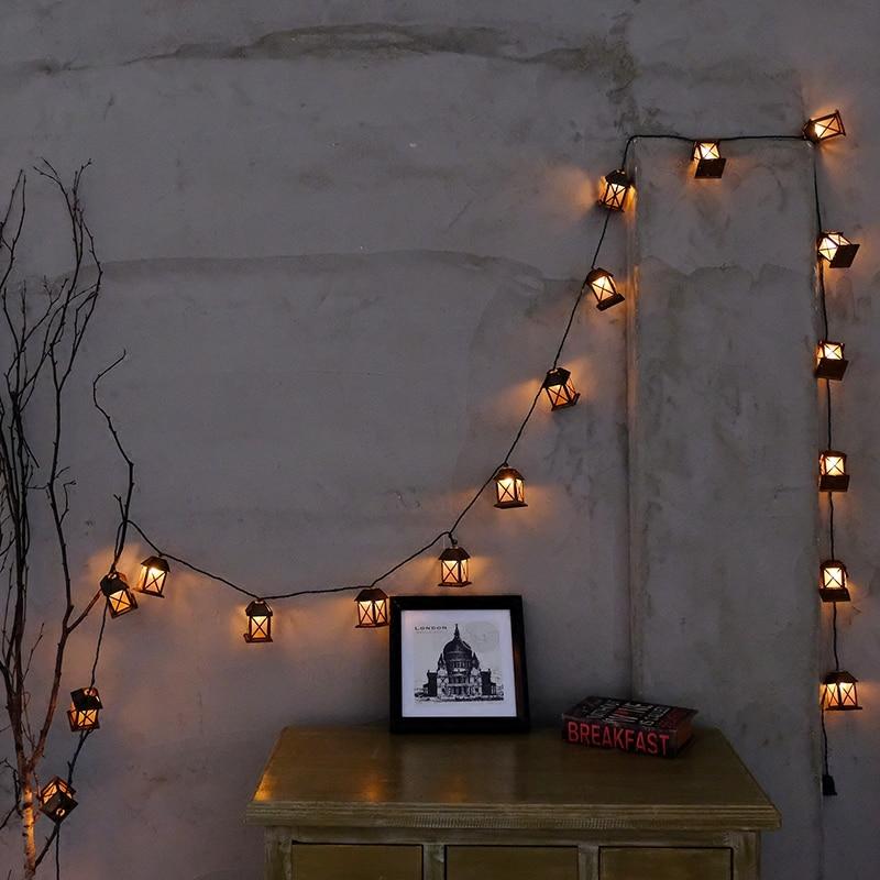 20Led Fada Retro Casa lanterna Bateria Operado Luzes Da Corda 3 M LED - Iluminação festiva - Foto 2