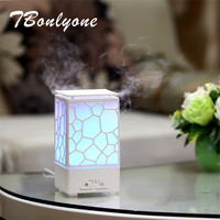 TBonlyone 200ML Water Cube Air Diffuser Air Humidifier With Aroma Lamp Electric Ultrasonic Essential Oil Dffuser