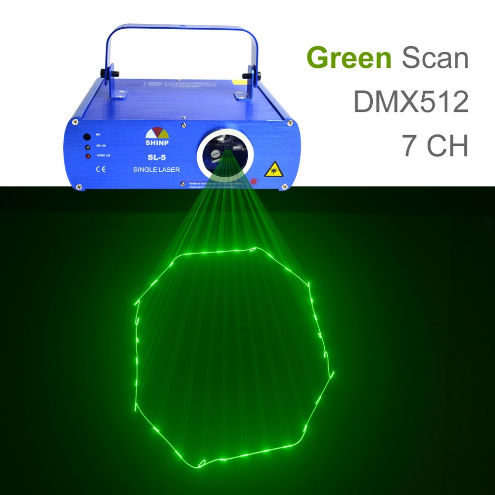 SHINP DMX  Green Laser Lights Beam Master-Slave Profession Party DJ KTV Home Projector Bar Stage Lighting SL-5 цена и фото