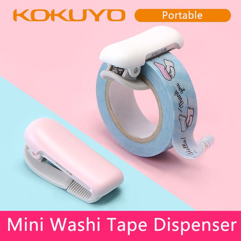 Color Of Macaron Mini Cute Washi Tape Dispenser Kawaii Portable Wasking Tape Cutter Japanese Stationery School Office Stationery 1pcs cute japanese stationery mini washi tape dispenser kawaii portable plastic office scotch tape cutter school supplies
