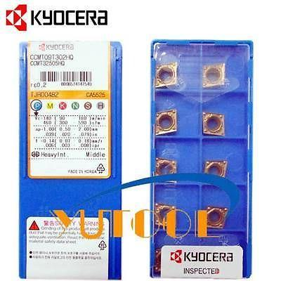 KYOCERA Carbide insert CCMT09T302HQ CA5525 CNC boring and turning insert 10pcs  цены