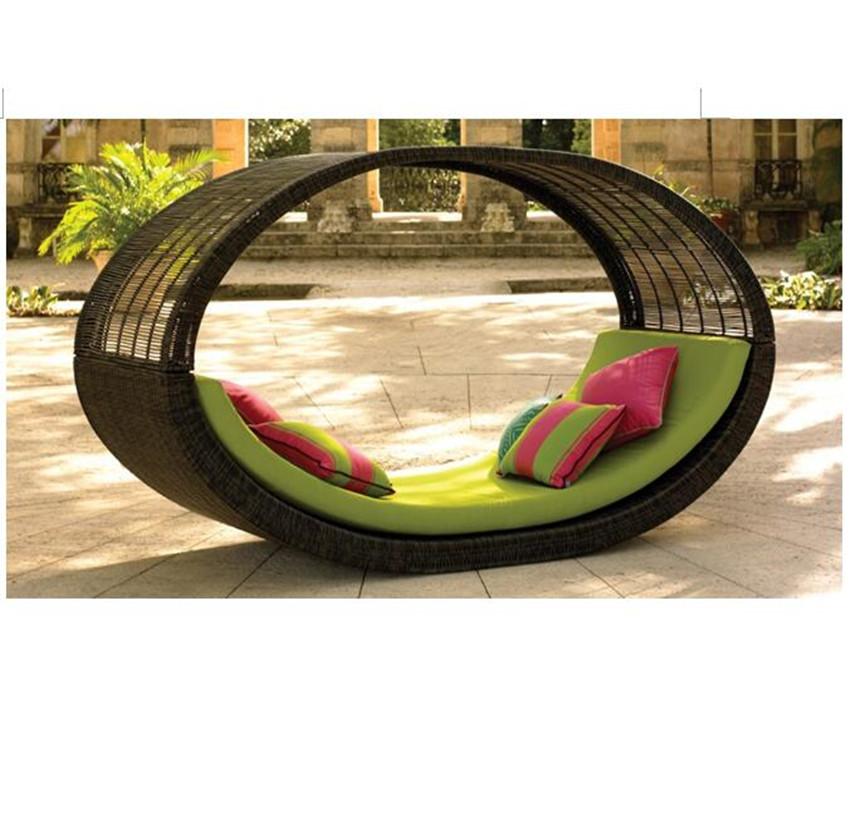 Clearance Outdoor Garden Beach Daybed