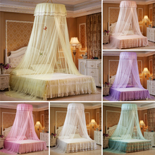 Kids Child Hung Dome Mosquito Net Princess Hanging Round Lace Canopy Bed Netting Comfy for Crib Twin Full Queen Bed все цены