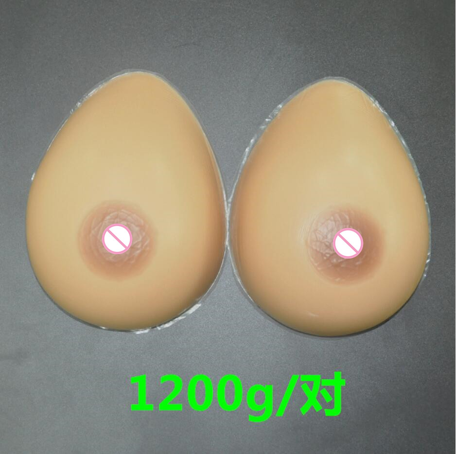 ФОТО 1200g/pair 36DD/38D/40C Silicone Breast forms Mastectomy Artificial Silicone Fake Breast For Crossdressers And Transvestites