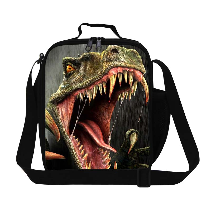 Dispalang Dinosaur Print Kids Lunch Bags For Boys Food Thermal Bag Animal Small Lunch Box For Working Children Casual Picnic Bag