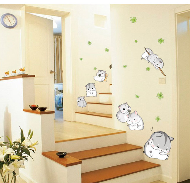 Small Hamster Decorative Wallpaper Stickers DIY Decals Glass Wall ...