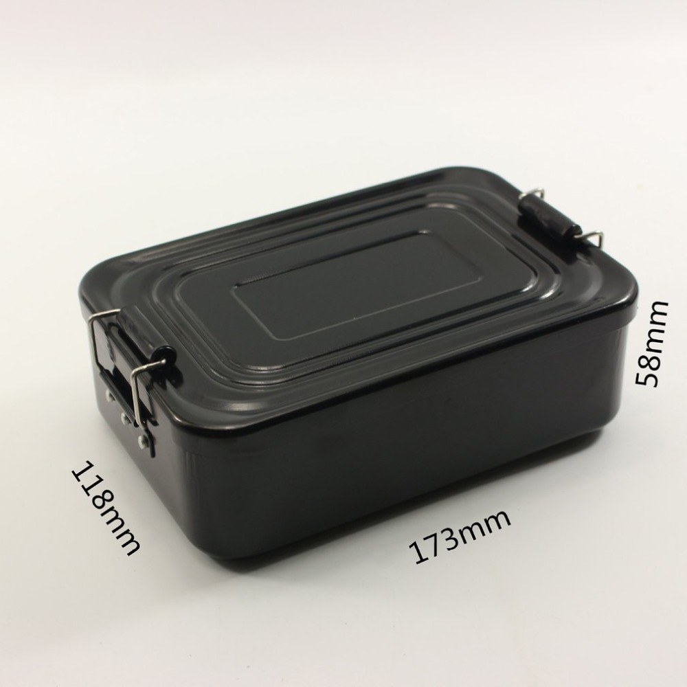 Portable Aluminum Lunch Box Outdoor Lunch Box Picnic Camping Cooking Utensils Solid Color Rectangle Lunch Box in Outdoor Tablewares from Sports Entertainment