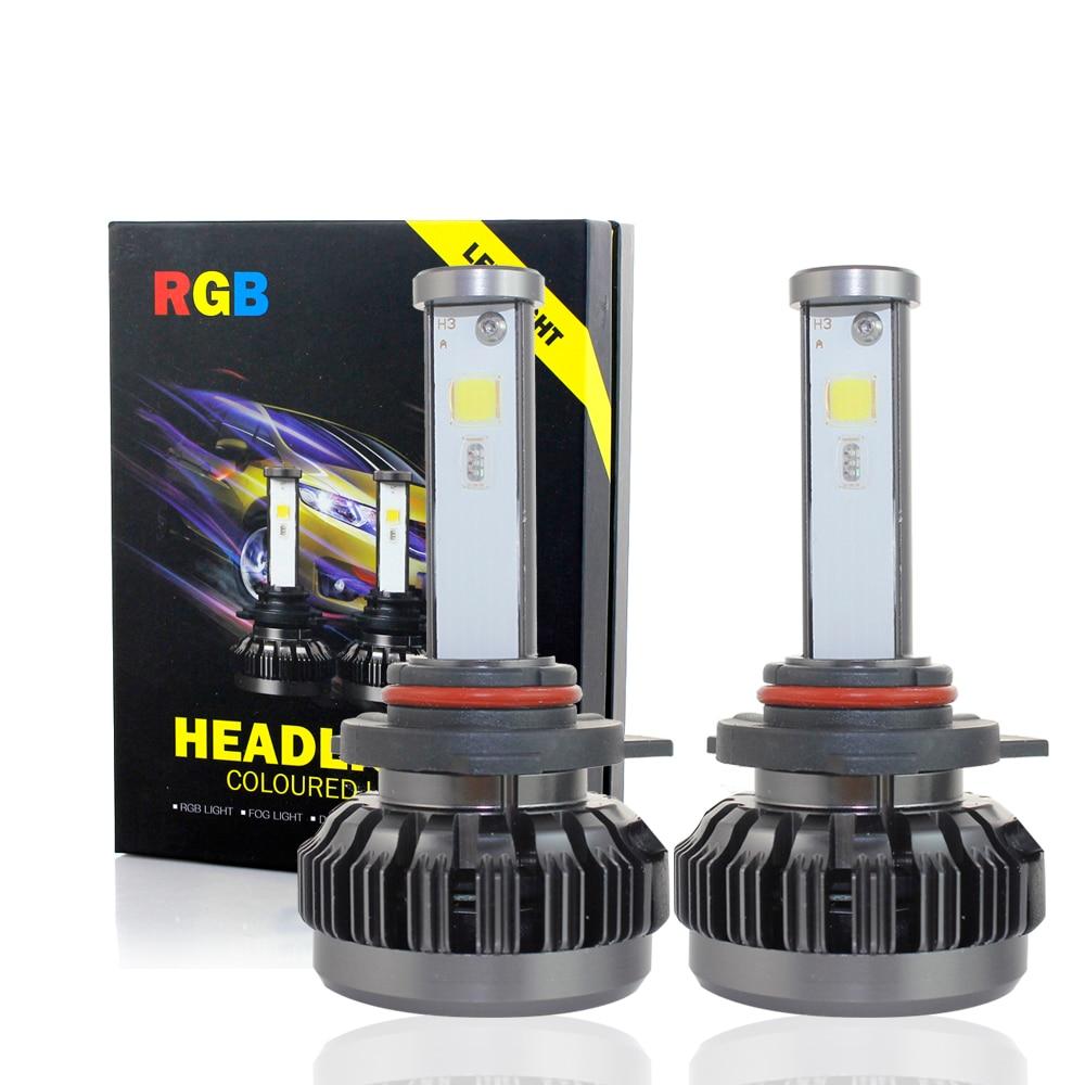 H7 LED h1 4300 k 6000 k 8000 k LED H7 Ampoules 12000lm H4 40 W lumière lampes h11 9005 9006 Phare 12 V voiture ampoules H3 H11 H9 H8