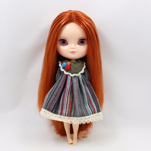 ICY tijelo Neo Blythe Doll tamno narančaste kose Azone