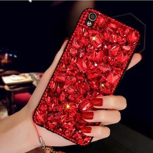 Image 3 - Luxury DIY Diamond Ruby Bling Funda Cases for Samsung Galaxy A50 A70 A10 A20E A40 A51 A71 A90 5G A31 A41 A30S A21S A01 Fundas