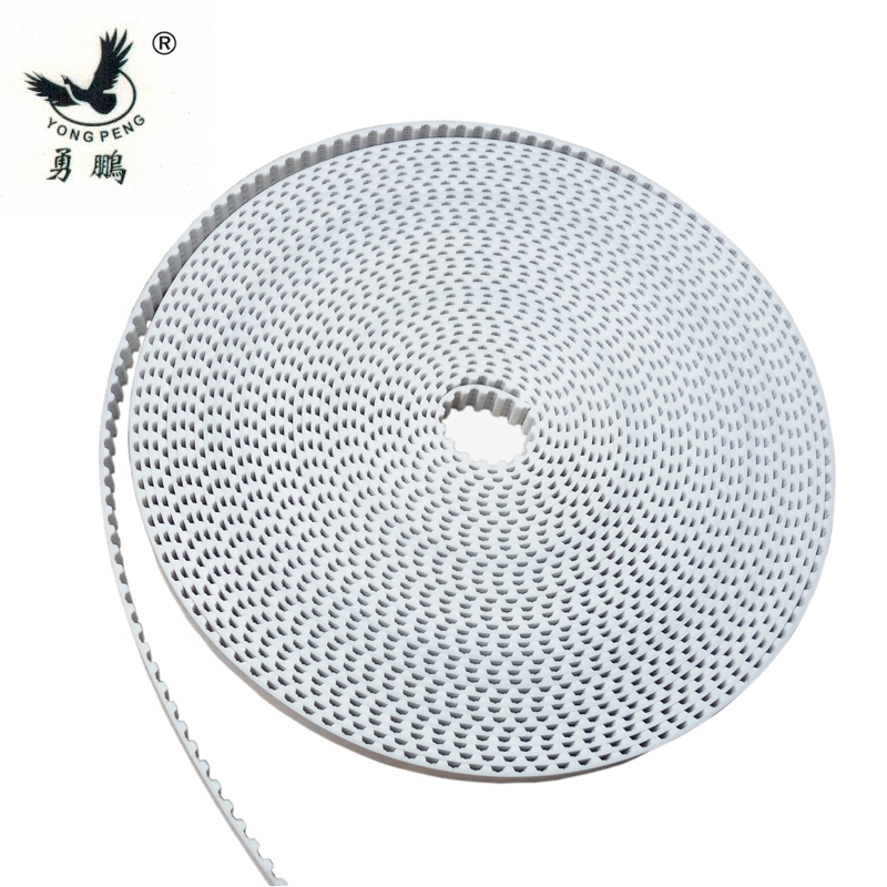 5 meters HTD5M timing belt  Width 15 20 30mm Color White PU Polyurethane with steel core HTD 5M open ended belt Pitch 5mm Pulley