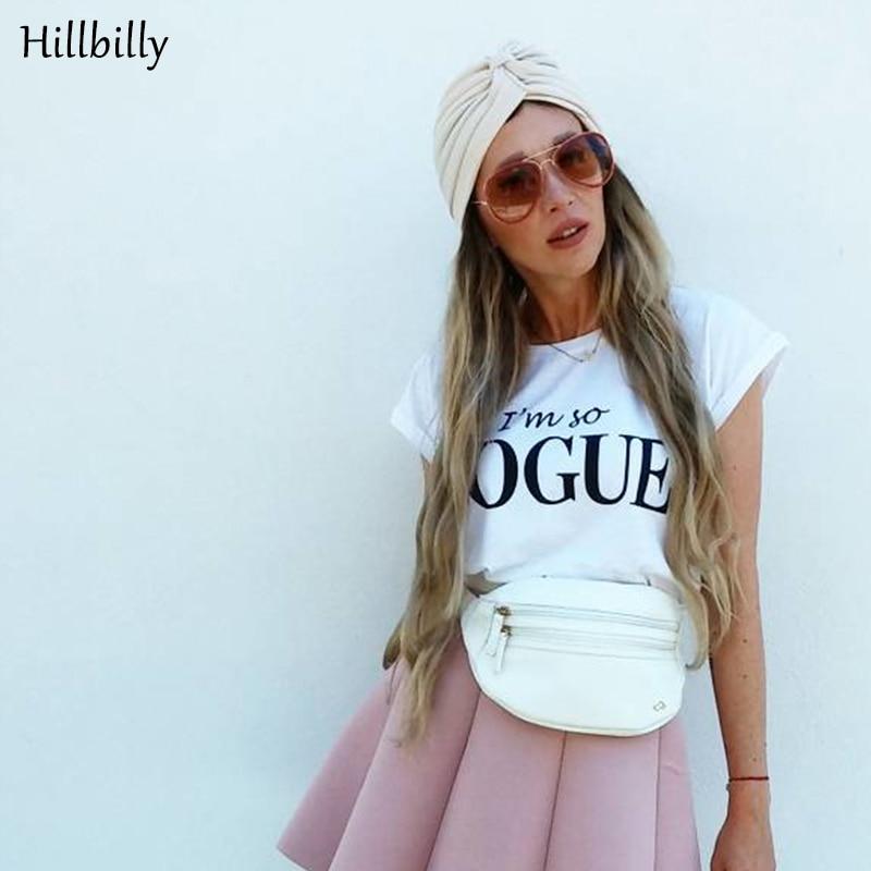 18766a9289fe Hillbilly Νέα Γυναικεία Μόδα Είμαι Τόπος Vogue T-Shirts Κοντό Μανίκι ...
