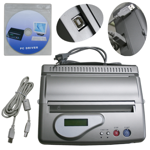 Silver USB Interf Tattoo Transfer Machine Printer Drawing Thermal Stencil Maker Copier for Tattoo Transfer A4 Paper Copy Supply ручка роллер parker urban t200 черный 0 8 мм f s0850460