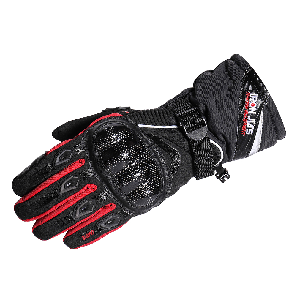 Carbon Fiber Motorcycle Gloves Warm Windproof Wearable Waterproof Protective Gloves Guantes moto Luvas de Moto luva motoqueiro цена