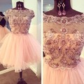 Actual Photos Cheap 8th Grade Graduation Dresses 2017 With Capped A Line Tulle Beads Vestido De Festa Party Homecoming Gowns MG
