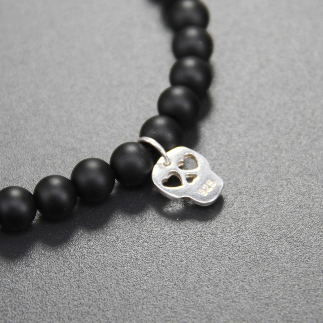 Фото томас матт черный обсидиан бусы браслет с сердцем глаз череп