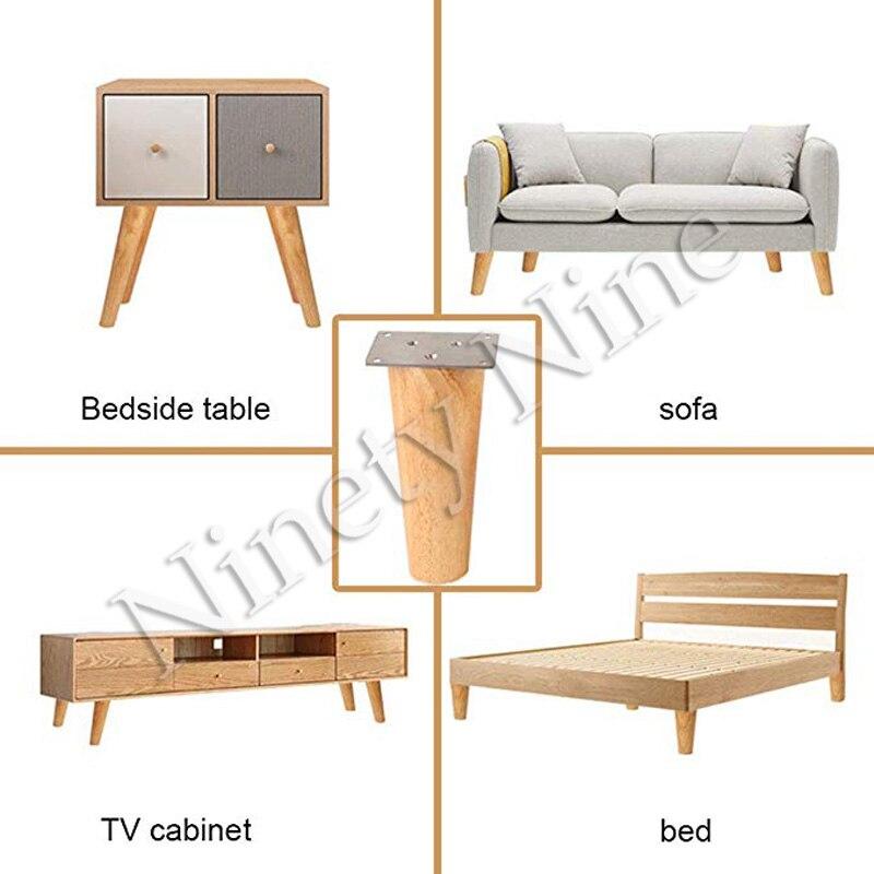 Image 3 - 4 Uds. De alto 6/8/10/12/15/18/20/25/30cm patas de muebles patas de apoyo sofá cama de madera maciza/mueble de Tv/MESA de café-in Patas del mueble from Muebles on AliExpress
