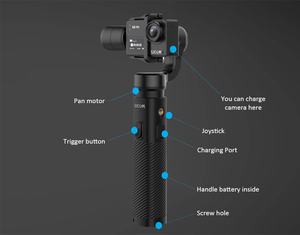 Image 4 - SJCAM SJ8 Pro Plus Air Handheld GIMBAL SJ Gimbal 2 3 Axis Stabilizer for SJ7 Star SJ6 Legend  SJ8 plus pro yi 4k Action cam